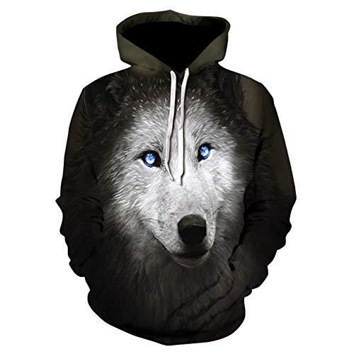 Loup Imprimé Hoodies Hommes 3D Hoodies Sweat Garçons Vestes Qualité Pull Mode Survêtements Animal Streetwear Out Manteau-Picture_Color_Size_M