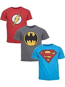 DC Comics Justice League Batman Superman Flash Little Boys 3 Pack T-Shirts 6