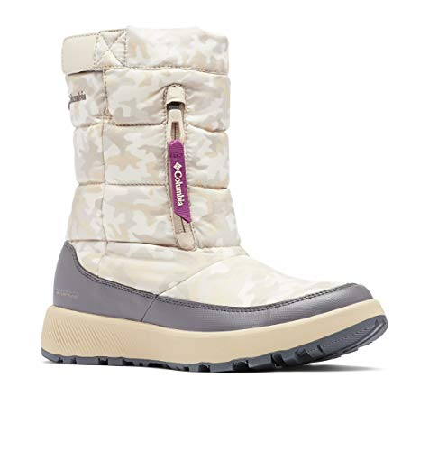 Columbia Women's PANINARO Omni-Heat Pull ON Snow Boot, Oxford Tan/Wild iris, 6.5