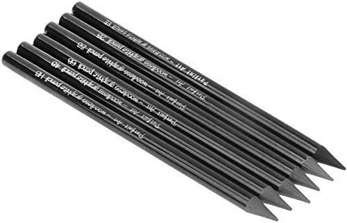 6 Stück Graphitstifte holzfrei Bleistifte für Skizzen in Schwarz mit verschiedenen Härtegraden HB 2B 4B 6B 8B EE Bleistift-Set Werkzeug für Kinder Jugendliche und Erwachsene