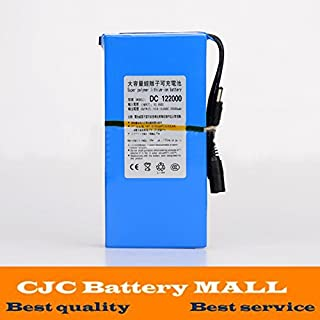 Eleoption リチウムイオンバッテリー リチウムイオン充電池 アダプタ 充電式電池 大容量 電池 DC 12V 20000mAh USプラグ付き