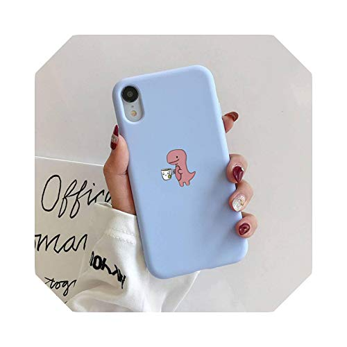 Carcasa de silicona para iPhone 11 Pro Max XR XS X Soft Candy Cover for iPhone 6 6S 7 8 Plus Cases-A3 para iPhone 7 Oro 8