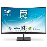 Philips 241E1SC - 24 Zoll FHD Curved Monitor, FreeSync (1920x1080, 75 Hz, VGA, HDMI) schwarz