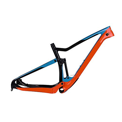 Wenhu SUSPENSIÓN Completa MTB Cuadro de Carbono 29Er MTB Cuadro de suspensión de Carbono T700 Cuadro de Bicicleta de montaña de Carbono 148 * 12 Cuadro de Bicicleta