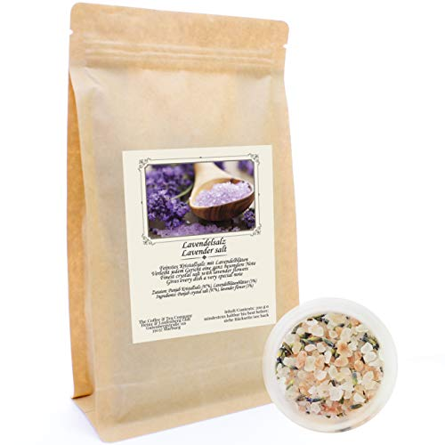 C&T Lavendelsalz 200 g | Feinstes Kristallsalz mit Lavendel | Kräutersalz | Verleiht jedem Gericht eine ganz besondere Note | Geschenkidee | Ohne Konservierungsstoffe, Farbstoffe und Aromen