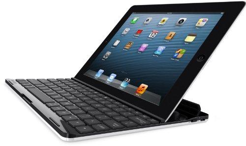 Belkin FastFit Bluetooth-Tastatur-Casemit Halterung (DE Layout, geeignet für Apple iPad 2, 3 & 4) schwarz/weiß