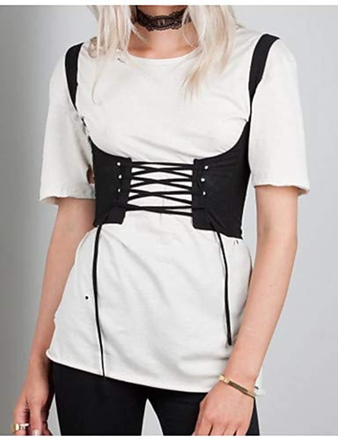 Women's Basic Tank Top  Solid colord Backless CrissCross Lace up
