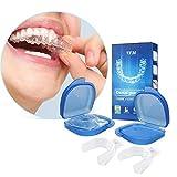 Kit de Protección Dental Y.F.M Protector Bucal Cuidado Dentadura Ferula Dental 2 Pares Bruxismo Rechinar Dientes Imprescindible para Atletas