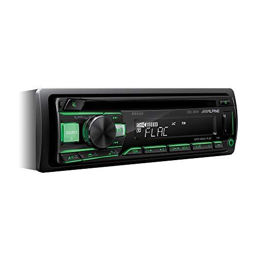 Alpine Electronics CDE-201R Autoradio CD 1DIN, Schwarz (Tastenbeleuchtung rot/grün umschaltbar)