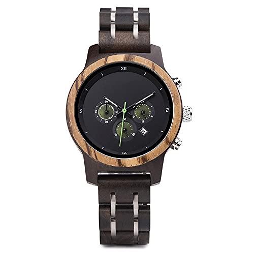 yuyan Reloj de Madera Negro Femenino Femenino Protección Ambiental Damas Reloj Reloj de Alta Gama Reloj Deportivo Retro Reloj de Madera Modelos Europeos y Americanos Movimiento japonés