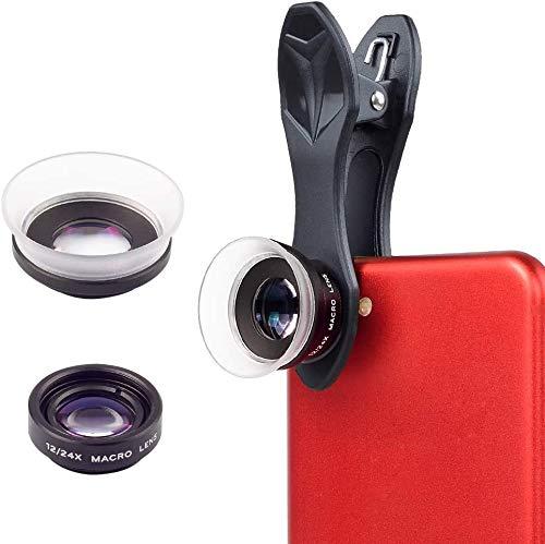 APEXEL Lente Macro-2 in 1 12x obiettivo macro + 24x Kit Macro mobile Camera Lens per Iphone Samsung HTC Xiaomi Android Smartphone
