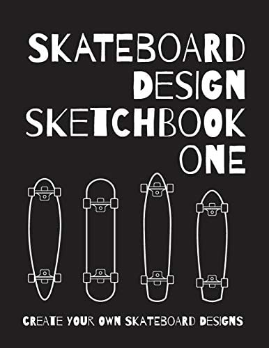 Skateboard Design Sketchbook One An Activity Book for Creative Kids Teens and Adults product image