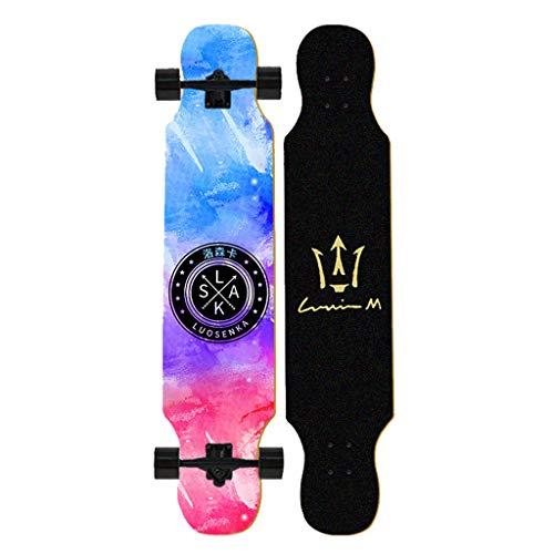 LHDQ 42-Zoll Premium Freestyle Longboard Skateboard, Cruiser Skateboard für Erwachsene und Teenager Dancing Longboard für Anfänger, Mädchen, Jungen