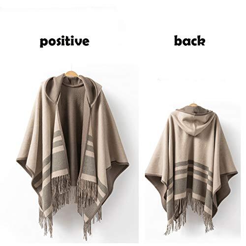 Sjaal wikkelen sjaal capped cape dames warme wollen sjaal klassieke kwast gordijn sjaal en sjaal