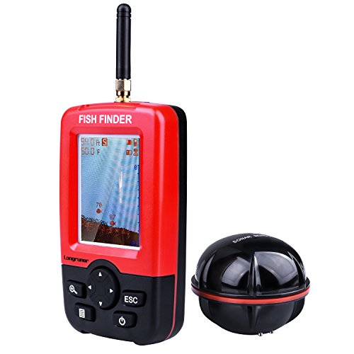 Longruner Fishing Finder Sonar para Pesca Fishing Finder Portable Inalámbricos Electrónicos con Pantalla LED Colorida Xj-01