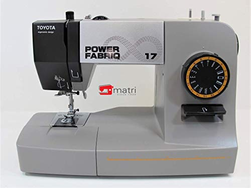 Toyota PowerFab17-EU sewing machine with powerful motor for better puncture power. Plastic grey W 410mm D 198mm H 294mm