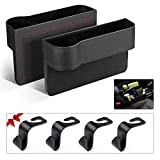 Car Seat Organizer Front Seat Gap Filler PU Leather Car Console Side Organizer Seat Pocket...