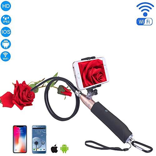 WSFF-Fan WiFi Endoskop USB-Endoskopkamera drahtlose Erkennungskamera 2.0 Megapixel 1200P HD halbstarre Kabelspiegel-Schlangenkamera für Android und IOS-Smartphone 8mm