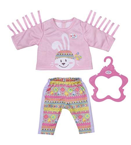 Zapf Creation 830178 BABY born Trendy Pullover Outfit 43 cm- Puppenkleidung Set bestehend aus Shirt und Hose. Inkl. Kleiderbügel
