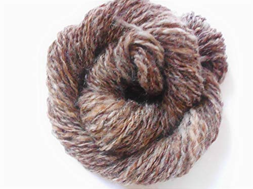 Hand Spun Cinnamon Brown Border Leicester Knitting Wool Yarn