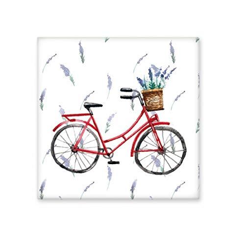 DIYthinker aquarel fiets lavendel bloem glanzende keramische tegel badkamer keuken muur steen decoratie ambachtelijke gift Large
