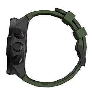 WIIKAI Compatible con SUUNTO 9 Baro/SUUNTO 9 Correas para Relojes, Correa de Pulsera de Reemplazo(Ejército Verde).