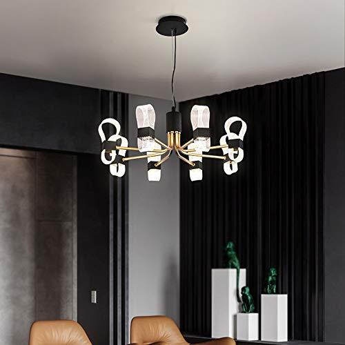 no-branded Sygjal Colgante Negro LED lámpara de la lámpara de Techo Caliente Creativo luz Oro de Lujo Moderna Sala de Estar Minimalista