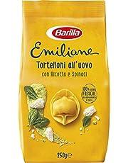 Barilla Pasta Emiliane Tortelloni de huevo con ricotta y espinacas, 250 g