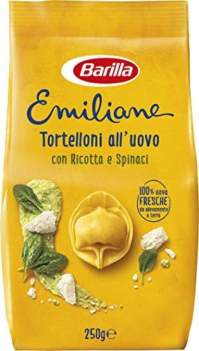 Barilla Pasta all'Uovo Ripiena Le Emiliane Tortelloni con Ricotta e Spinaci - 250 g