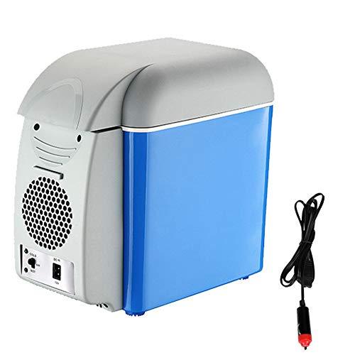 RSTJ-Sjef Refrigerador Portátil para Automóvil, Refrigerador Eléctrico De 7.5 litros con Modo De Ahorro De Energía Y Funciones De Enfriamiento Y Calefacción, Enfriador Termoeléctrico De 12V