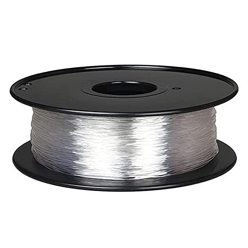 3D Printer Consumables,3D Printer Filament, TPU Flexible Filament, Soft and Flexible, 0.8Kg Spool, 1.75Mm-,Transparent