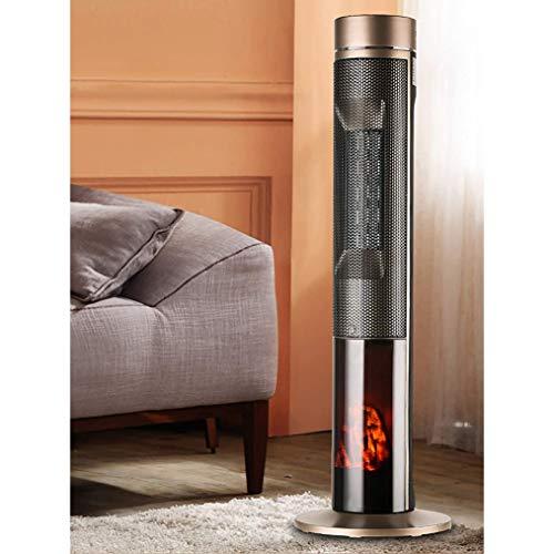 zhicheng shop Calentador de Torre eléctrico 2500 W Calentador de Patio Calentador de Infrarrojos de Carbono de 3 velocidades con Control Remoto, calefacción cómoda, Uso en Exteriores o Interiores