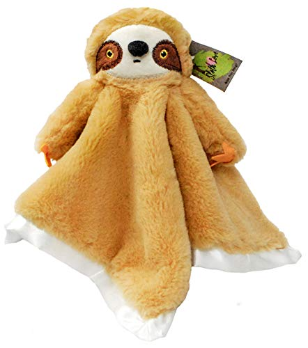 Madam Posy Sloth Lovey Blanket: Soft Plush Stuffed Animal Security Snuggler Blanket Gift For Newborn Boys and Girls