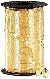 PMU Curling Ribbon 3/16 Inch X 500 Yards Gold Pkg/1
