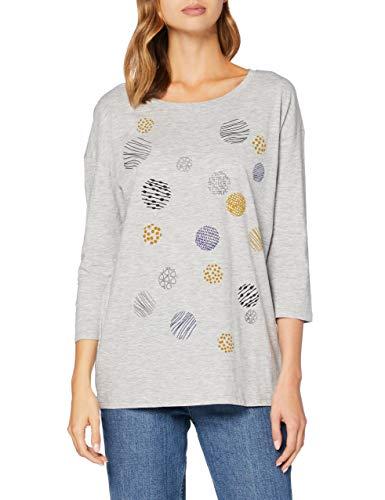 ESPRIT 080EE1K372 T-Shirt, 044/grigio Chiaro 5, XXS Donna