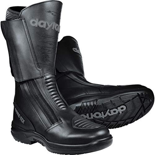 Daytona Boots Motorradschuhe, Motorradstiefel lang Traveller GTX schwarz 46, Herren, Tourer, Ganzjährig, Leder