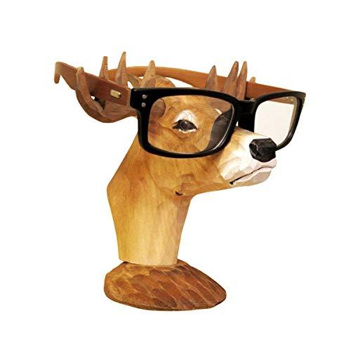 neustadt 鹿 メガネスタンド 木製 ハンドメイド メガネ置き シカ 木彫り 手作り おしゃれ k0103