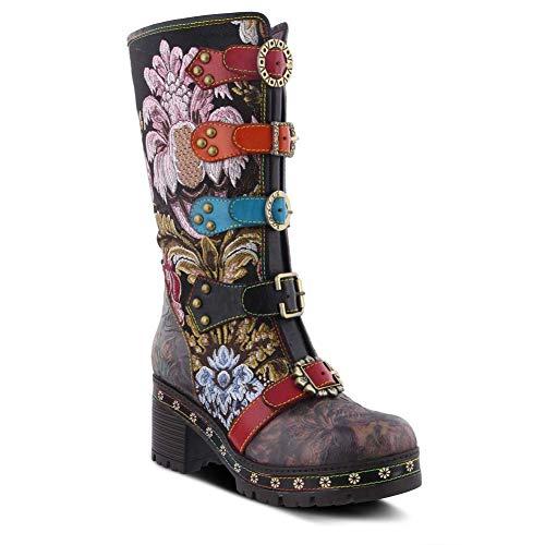 Spring Footwear Brazen Stiefel in Übergrößen Schwarz Brazen-BM große Damenschuhe, Größe:44