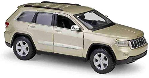 KJAEDL Model Cars For Kids Die-casting Car Model JEEP Grand Cherokee Laredo Car Realistic 1/24 Model Alloy Children's Toys Can Open the Door Suitable