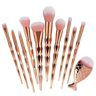 ZYC 11pcs Pinceaux à Maquillage Professionnel Maquillage Professionnel Plastique