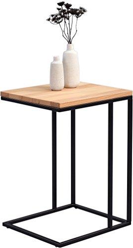 HomeTrends4You Odis Beistelltisch, Holz, Kernbuche Massiv, 38 x 43 x 62 cm