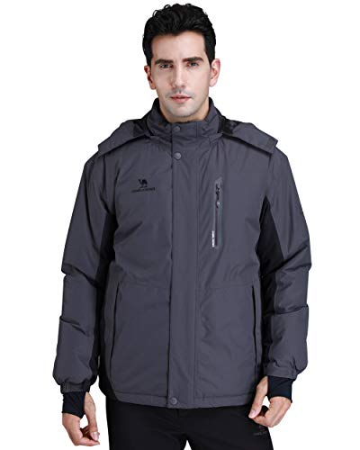 CAMEL CROWN Ski Jacket Men Waterproof Warm Cotton Winter Snow Coat Mountain...