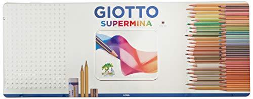 Giotto 237500 - Supermina Scatola di Metallo da 50 Pezzi, multicolore