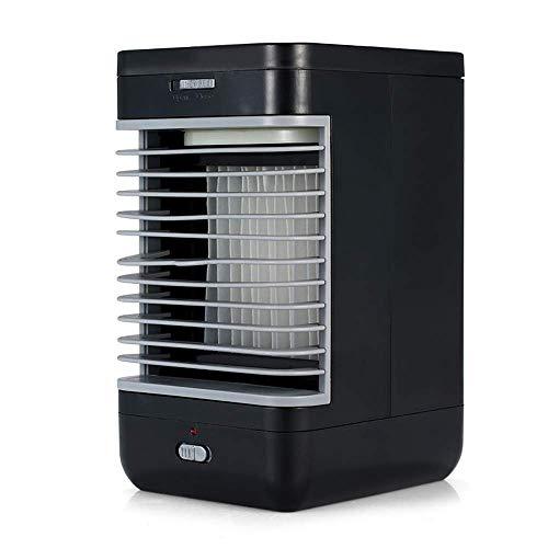 Kejin Mini-ventilator, kleine desktop airconditioner, luchtkoeler voor thuisconditioner, ventilator, verdampingsluchtbevochtiger, draagbaar, klein, geluidloos, mobiele persoonlijke ruimte voor kantoor, reis, slaapkamer, kejin