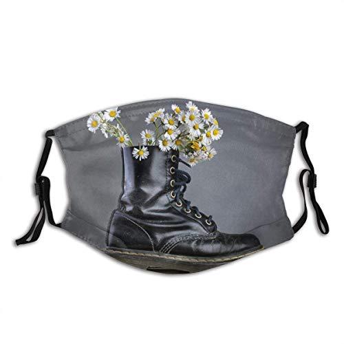 Gesichtsschutz Mundschutz Stiefel Stiefel Gänseblümchen Gänseblümchen Blumen Blumen Blumen Schnürsenkel Design Sturmhaube Mund Bandanas Hals Gamasche mit 2 Filtern