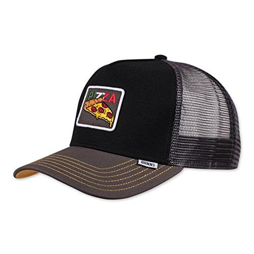 Djinns Trucker Cap Food Pizza Black Schwarz, Size:ONE Size
