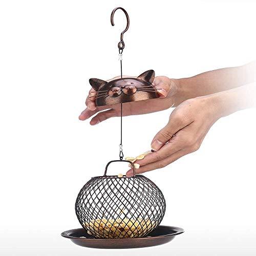 BANNAB Metal Bird Feeder Outdoor Balcony Outdoor Hanging Feeder Easy To Clean And Fill Bird Feeder Hanger