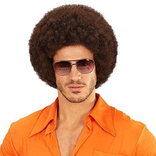 NET TOYS 70er Jahre Afro-Perücke für Damen & Herren - Braun - Angesagtes Unisex-Kostüm-Zubehör Minipli - Wie geschaffen für Karneval & Mottoparty