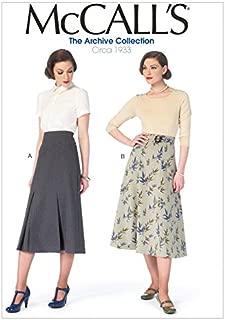 McCalls Ladies Sewing Pattern 6993 Vintage Style Skirts & Belt