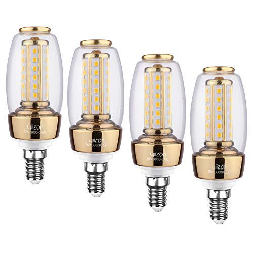 YIIZON E14 LED Glühbirnen, 9W 900LM 3000K Warmweiß LED statt 80W Glühlampe, E14 Mais Lampen Birnen Maiskolben Leuchtmittel Kleine Kerze Licht, 4er Pack